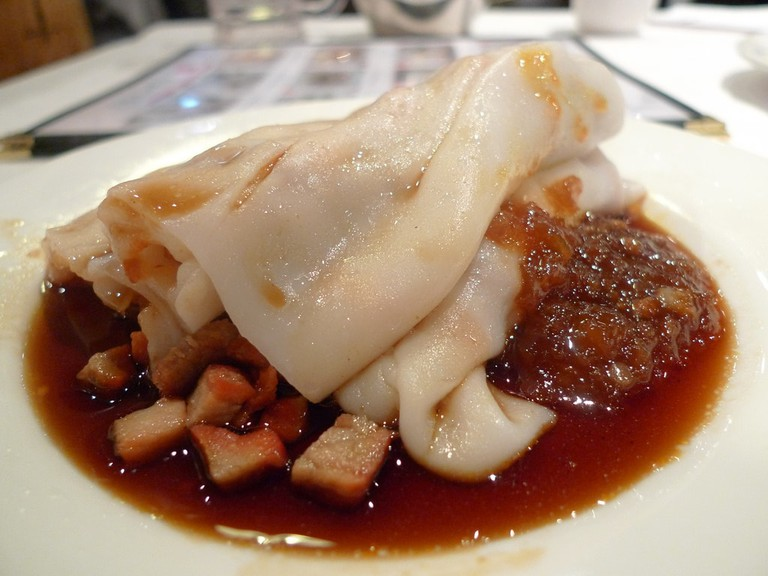 Cha Siu Pork in Rice Noodle Roll © Ron Dollete