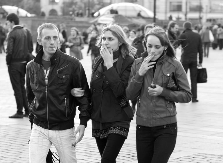Smoking Trio