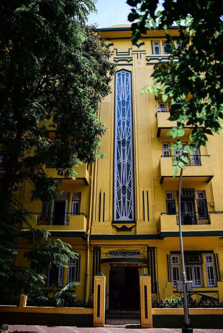 The staircase spine structure, a typical in Mumbai's Art Deco buildings