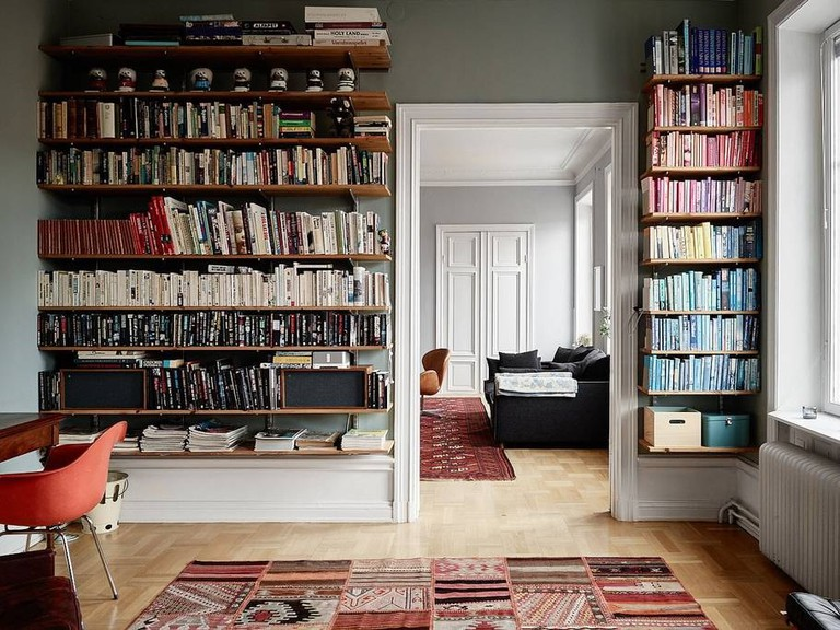 The wonderful library leading into the third bedroom