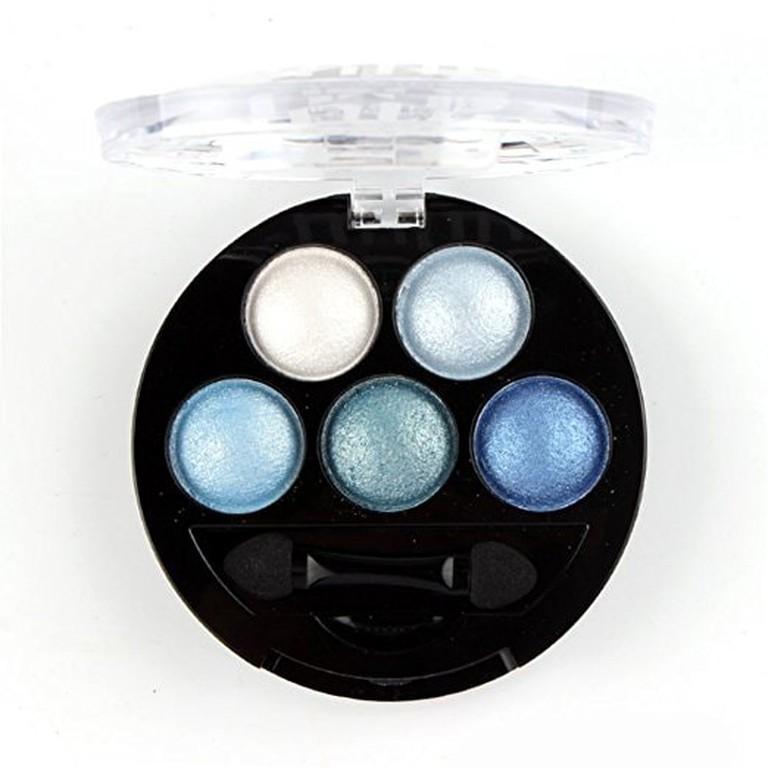 Mallofusa Portable 5 Colors Eye Shadow Palette