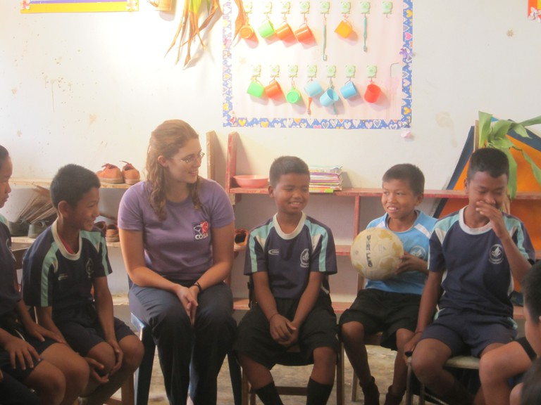 Volunteering with hill tribe children, Thailand
