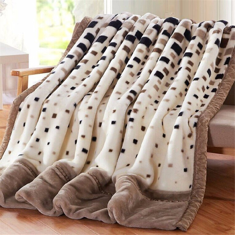 Raschel Blanket Weighted Fleece Napping Throw