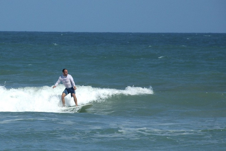 Surfing on Cocoa Beach