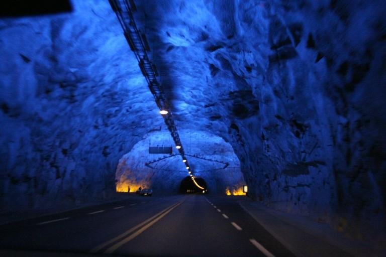 Crossing the Lærdal tunnel