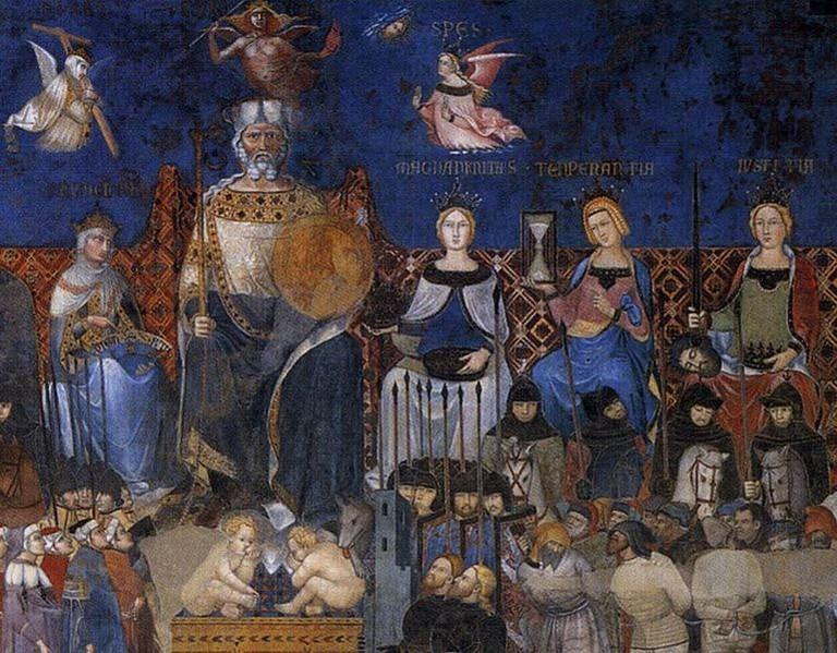 769px-Ambrogio_Lorenzetti_-_Allegory_of_the_Good_Government_(detail)_-_WGA13487