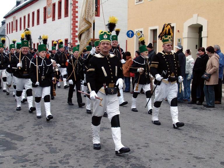 Miners' parade, Marienberg
