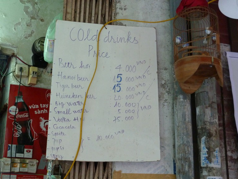 Bia (or beer) hơi costs about 20 cents per glass