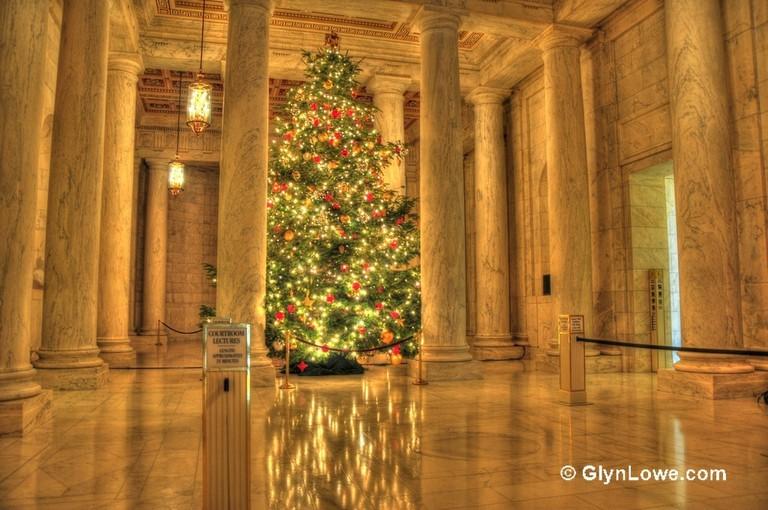 The Supreme Court Christmas tree