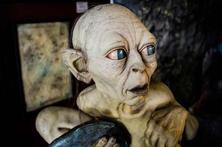 Gollum Replica at the Weta Cave, Wellington