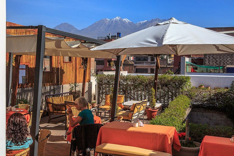 Rooftop Breakfast in Arequipa