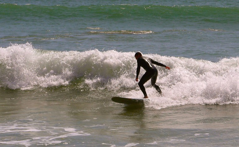 Surfing the waves near Agadir