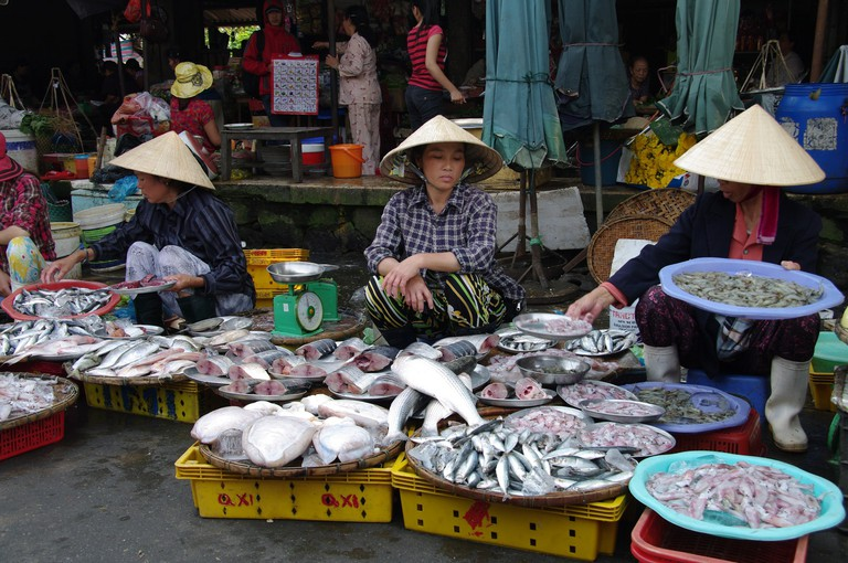 Good luck setting up a competing fish stand in this market