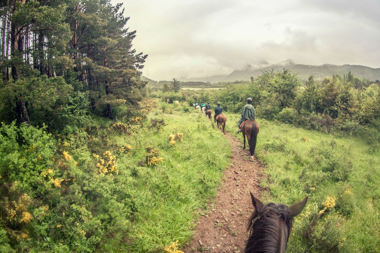 Horse riding in the Pyrenees
