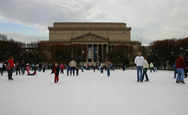 Sculpture Garden Ice Skating Rink