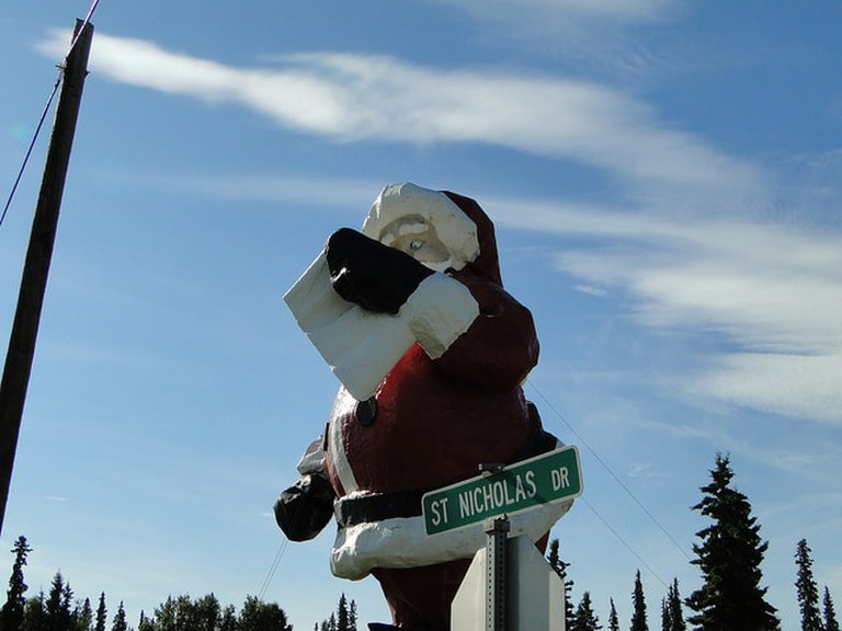 A street sign at the North Pole I