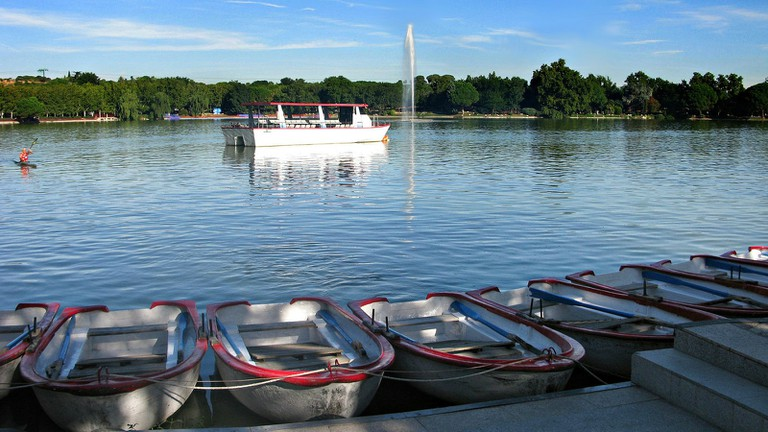 Rent a rowing boat or head out on the lake's little pleasure boat