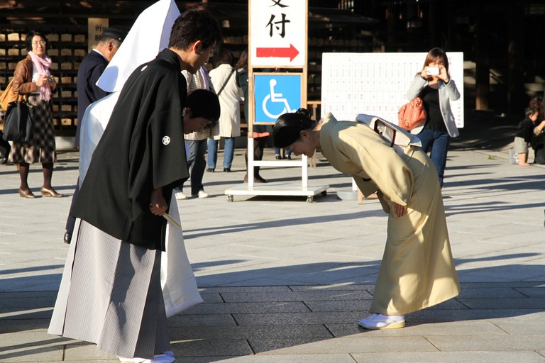 Bowing is an important part of Japanese culture