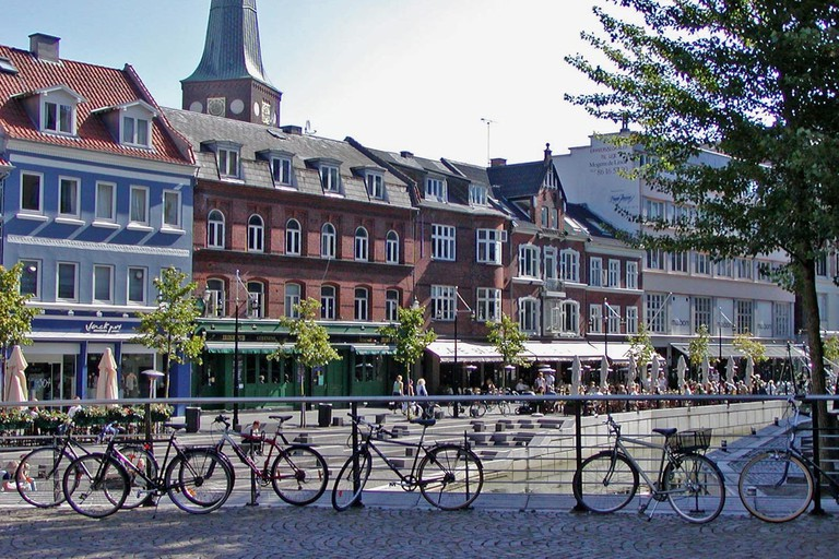 Cafes and bicycles in Aarhus