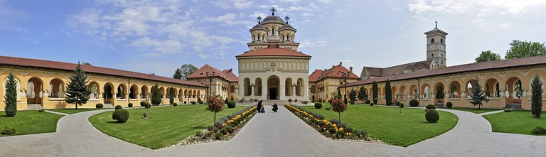 Panoramic image of the Orthodox Cathedral in Alba Iulia