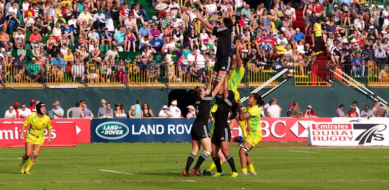 Australia vs. New Zealand, rugby sevens | © Land Rover MENA_Wikimedia Commons