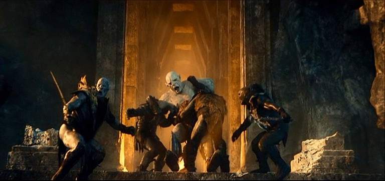 The battle in the Mines of Moria in The Hobbit: An Unexpected Journey