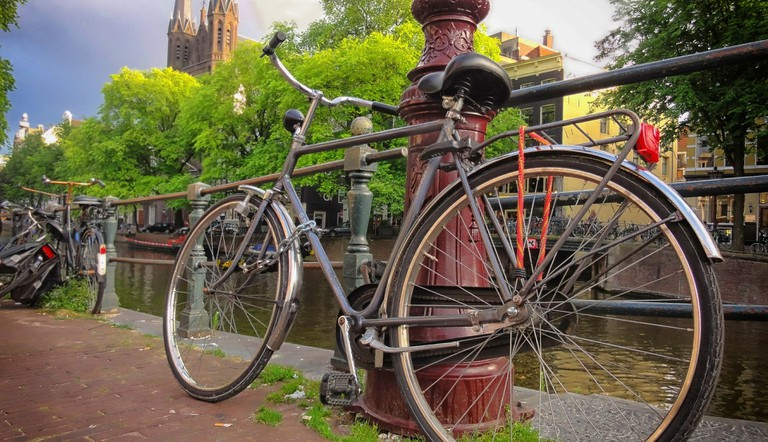 Bike theft is pretty common in Amsterdam