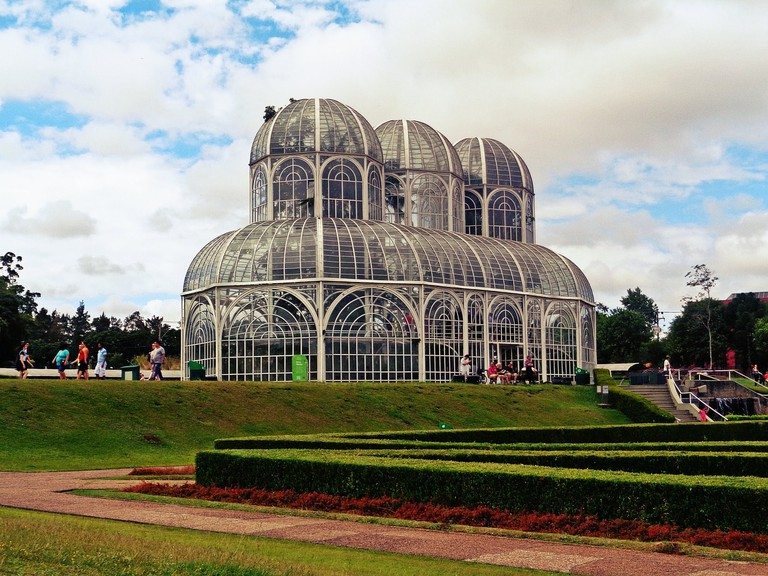 The botanical gardens in Curitiba