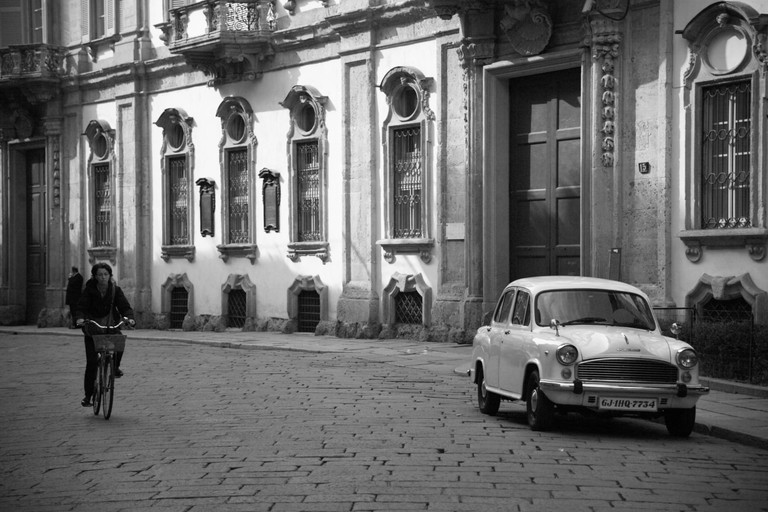 A cobbled street in Brera, Milan