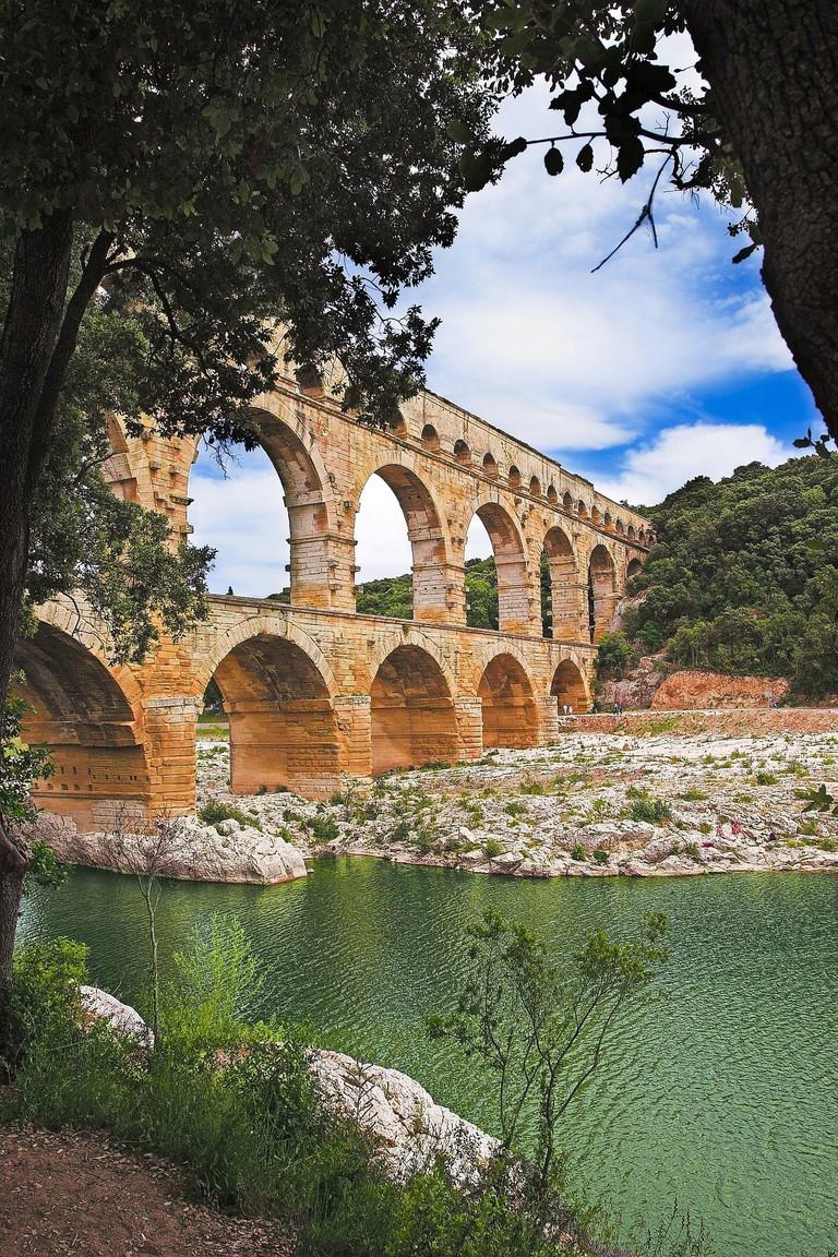 The Pont du Gard aqueduct just outside Avignon