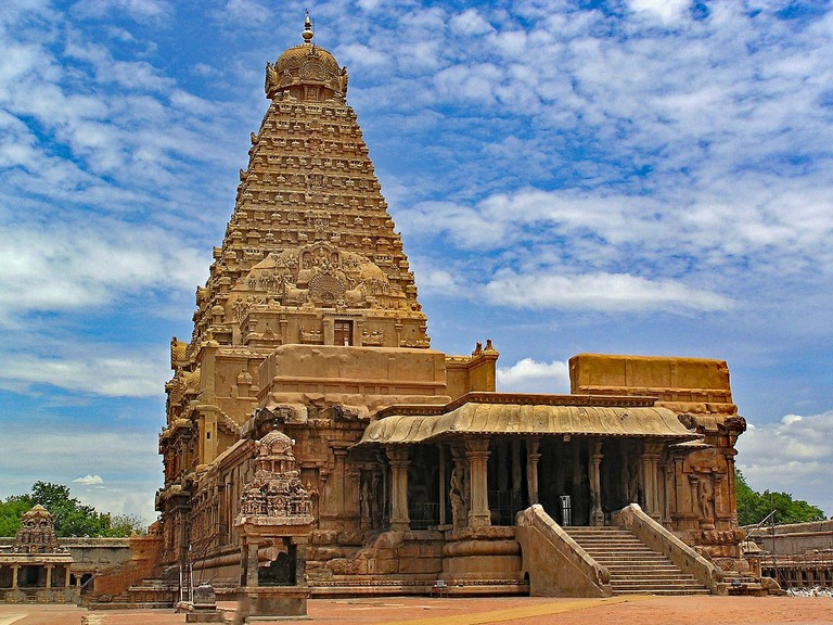 The 1,000-plus-years-old Brihadeeswara Temple in Thanjavur, Tamil Nadu