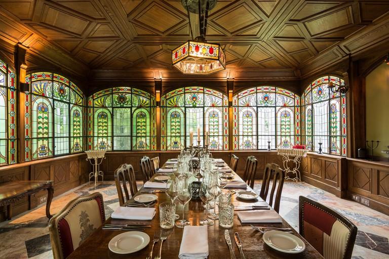 Brody Villa's Winter Gardens dining room