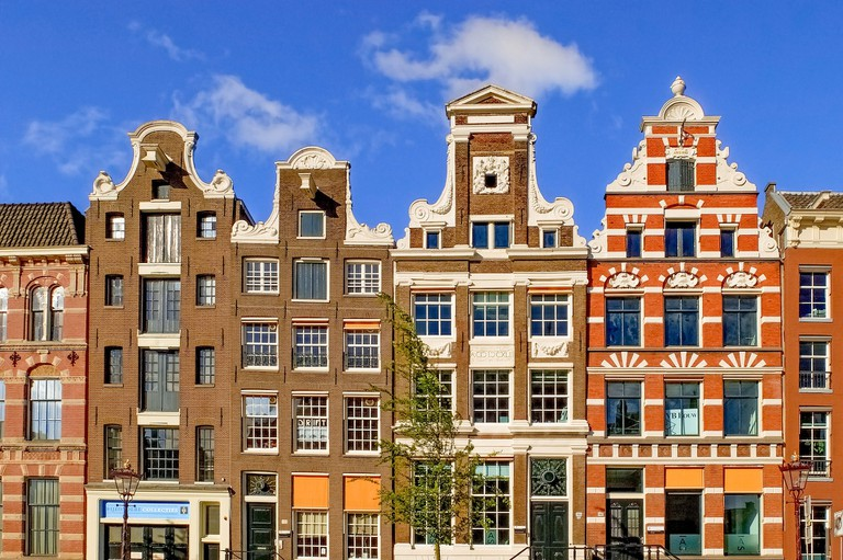 Typical town houses in Amsterdam