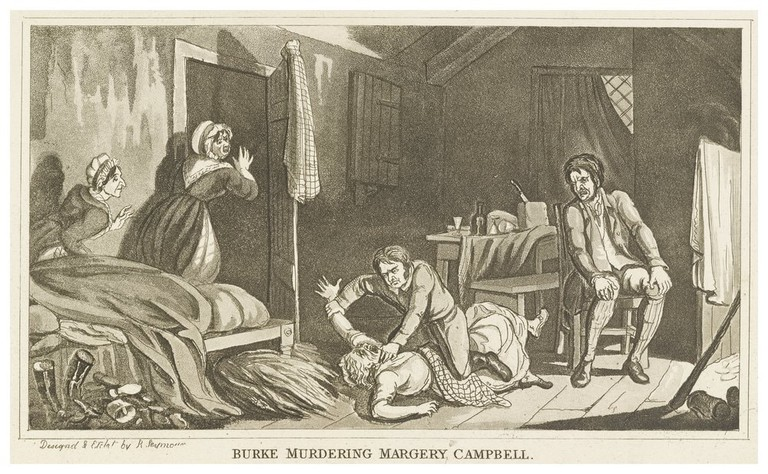 Burke Murdering Margery Campbell | Public Domain via WikiCommons