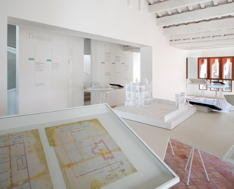 Plans of the house are on show in the museum