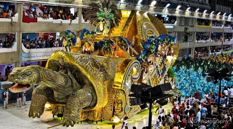 The extravagant Carnival floats