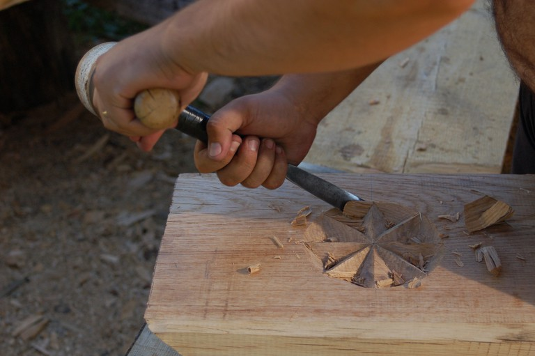 Carving Wooden gates-min
