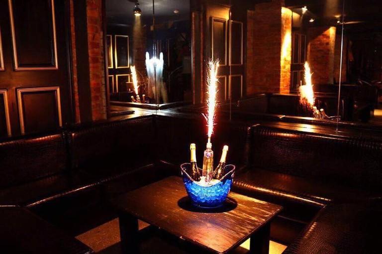 Champagne booth at Perdu, Newcastle | © Perdu Facebook