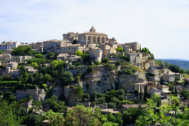 Gordes is set on the side of the hill in the Luberon