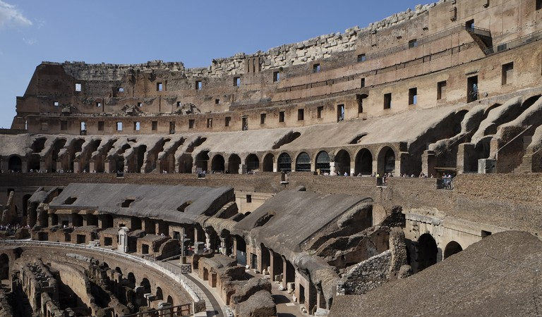 With so many vomitoria, the Colosseum filled and emptied quickly
