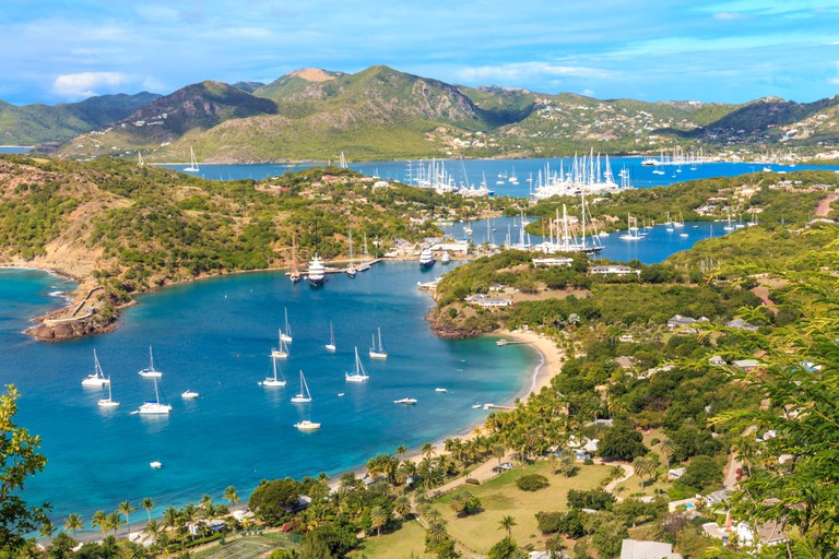 Antigua Bay, Antigua, West Indies, Caribbean.