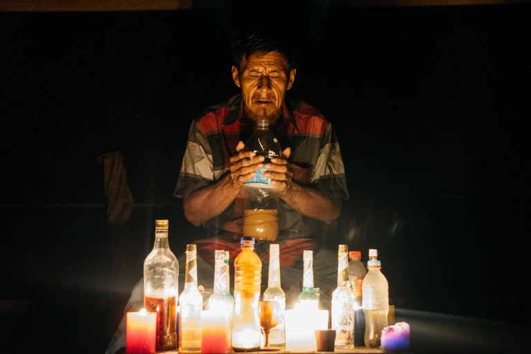 Shaman at La Luna Del Amazona in Iquitos