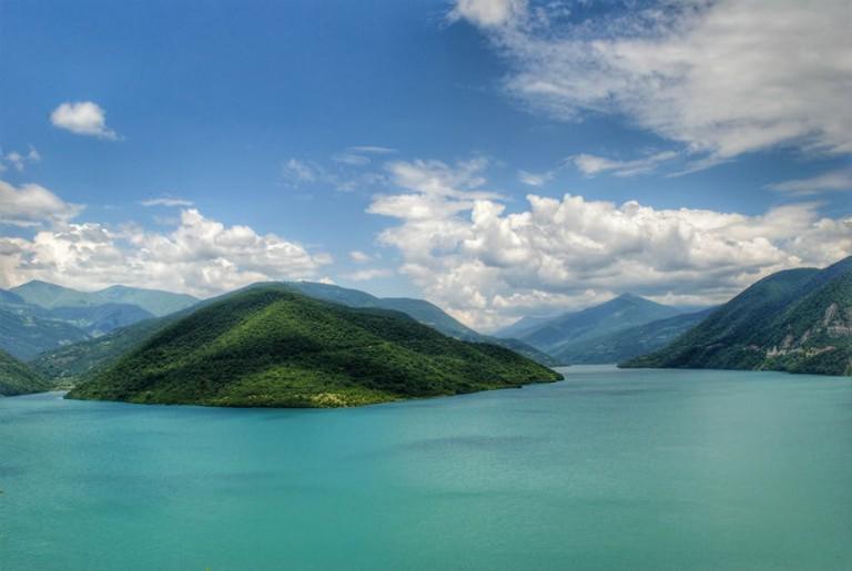 Zhinvali reservoir Georgia