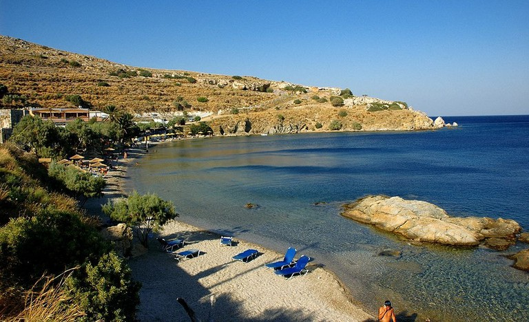 Dyo_Liskaria_beach_in_Leros_island,_Greece_-_panoramio