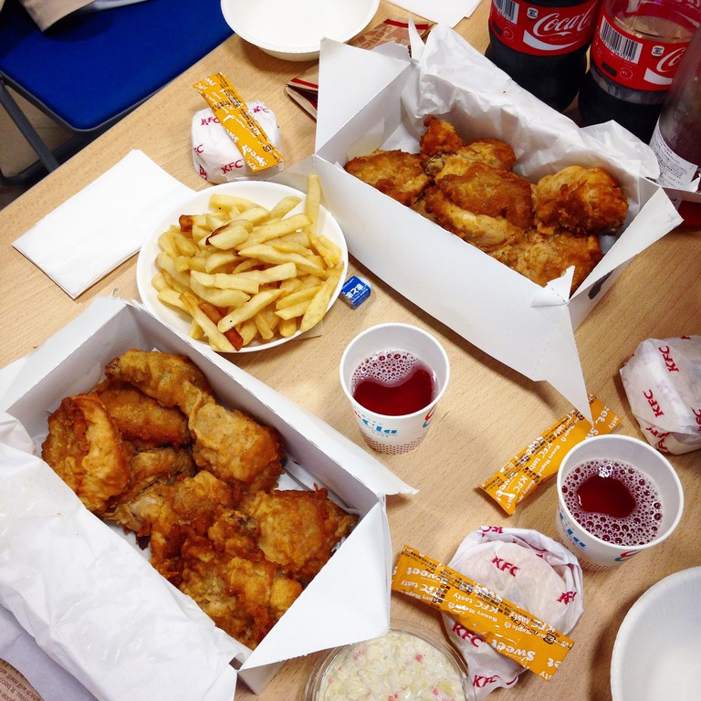 A Christmas Day feast in KFC
