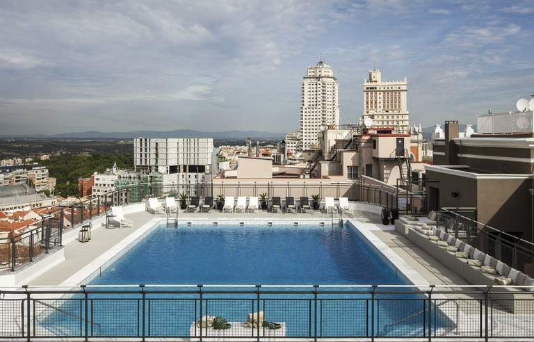 Hotel Emperador has one of the biggest rooftop pools in Madrid