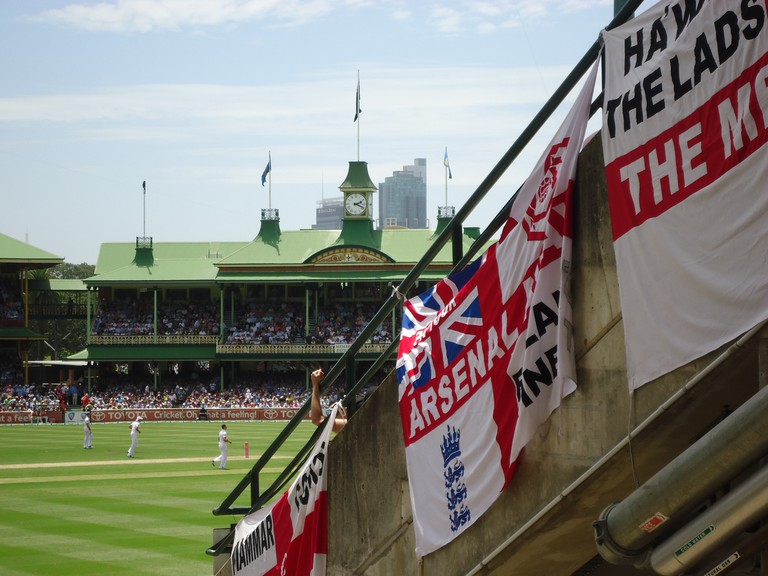 England fans at the Sydney Cricket Ground