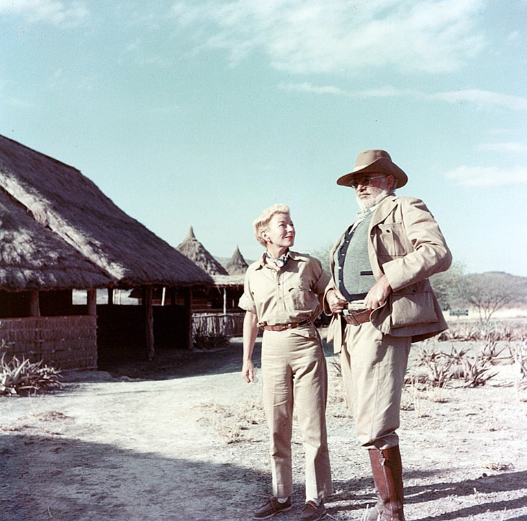 Ernest and Mary Hemingway on safari in Africa, 1953-1954