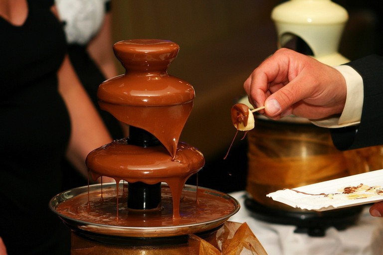 Fondue and chocolate, two epic Swiss traditions that often collide
