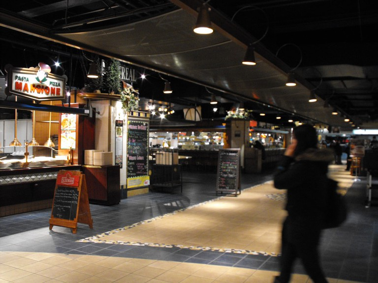 Food Court Underground City Montreal https://www.flickr.com/photos/18877859@N00/5193677025/